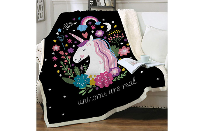 Sleepwish Cute Unicorn Blanket for Kids