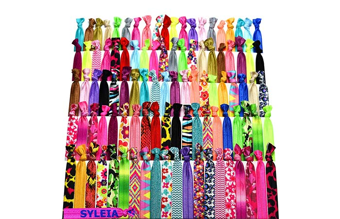 Syleia Colorful Printed Hair Ties