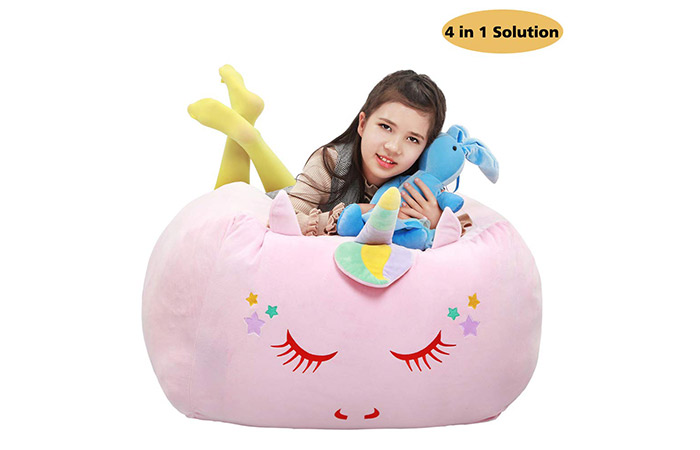 Yoweenton Unicorn Stuffed Animal Toy Storage