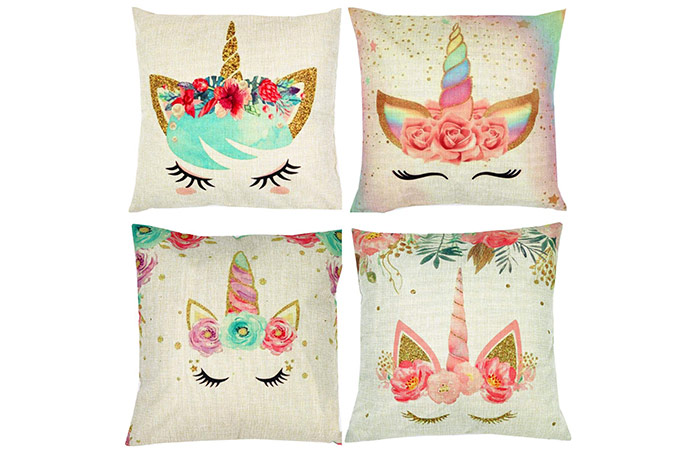 ZUEXT Unicorn Throw Pillow Covers