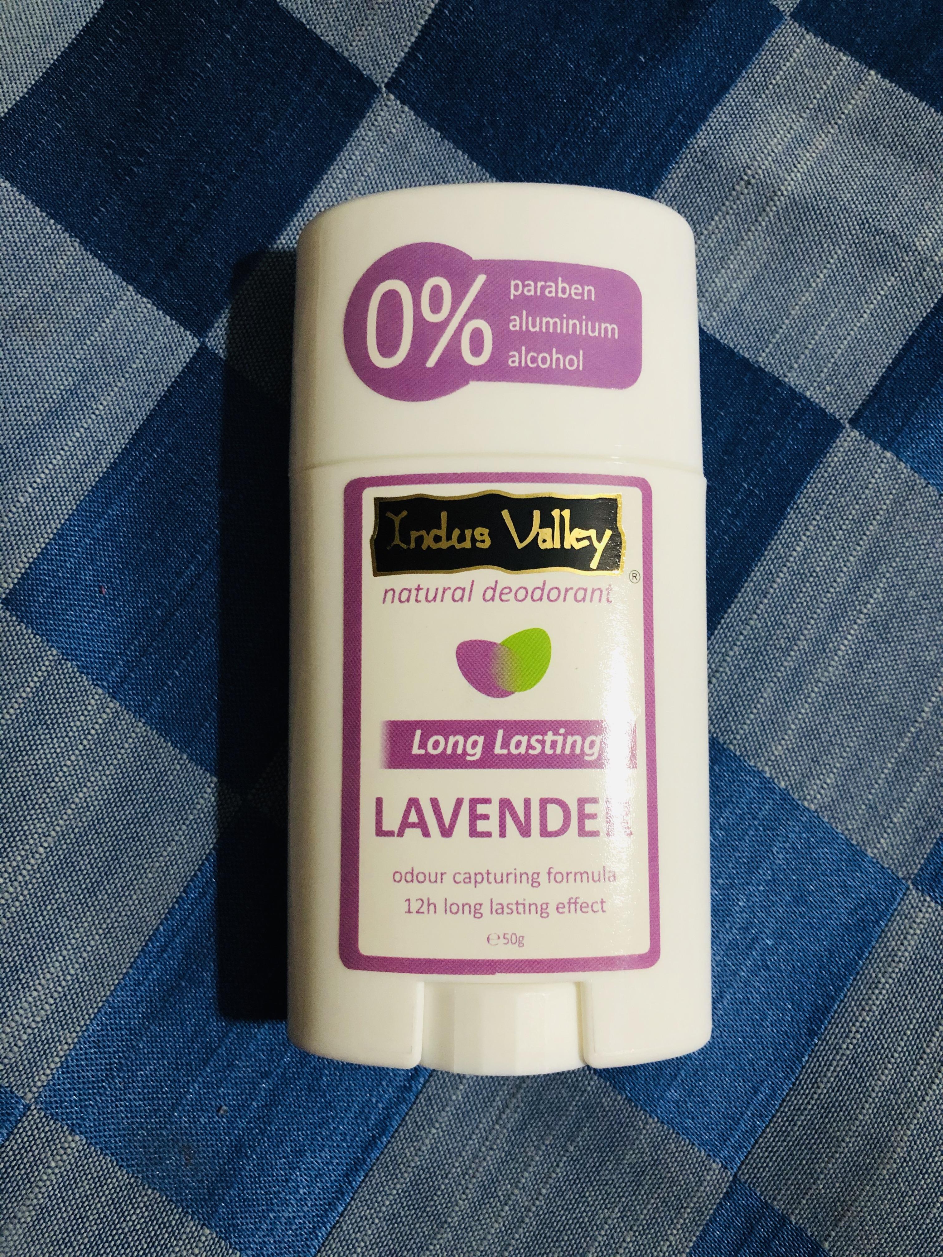 Indus Valley 100% Natural Aluminium Free Lavender Deo Stick pic 2-Natural lavender deodorant-By rishbhabanthia