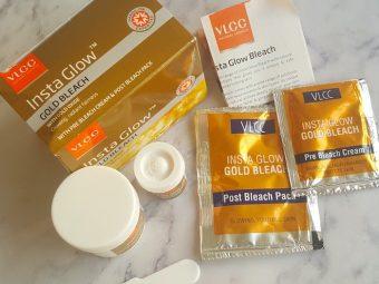 VLCC Insta Glow Gold Bleach pic 3-Golden glow.-By simmi_haswani