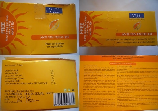 VLCC Anti Tan Facial Kit-Lightening effect.-By simmi_haswani-3