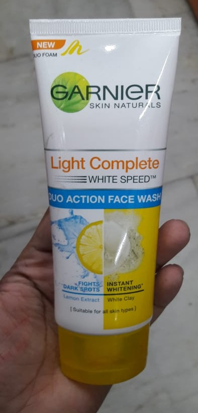 Garnier Skin Naturals White Complete Double Action Face Wash-Good one but takes time to show results-By Nasreen-2