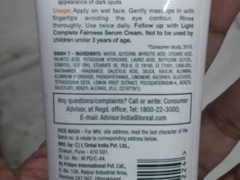 Garnier Skin Naturals White Complete Double Action Face Wash pic 1-Good one but takes time to show results-By Nasreen