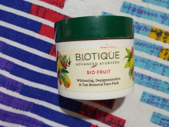 Biotique Bio Fruit Whitening & Depigmentation Face Pack -Great for tan and pigmentation-By ariba