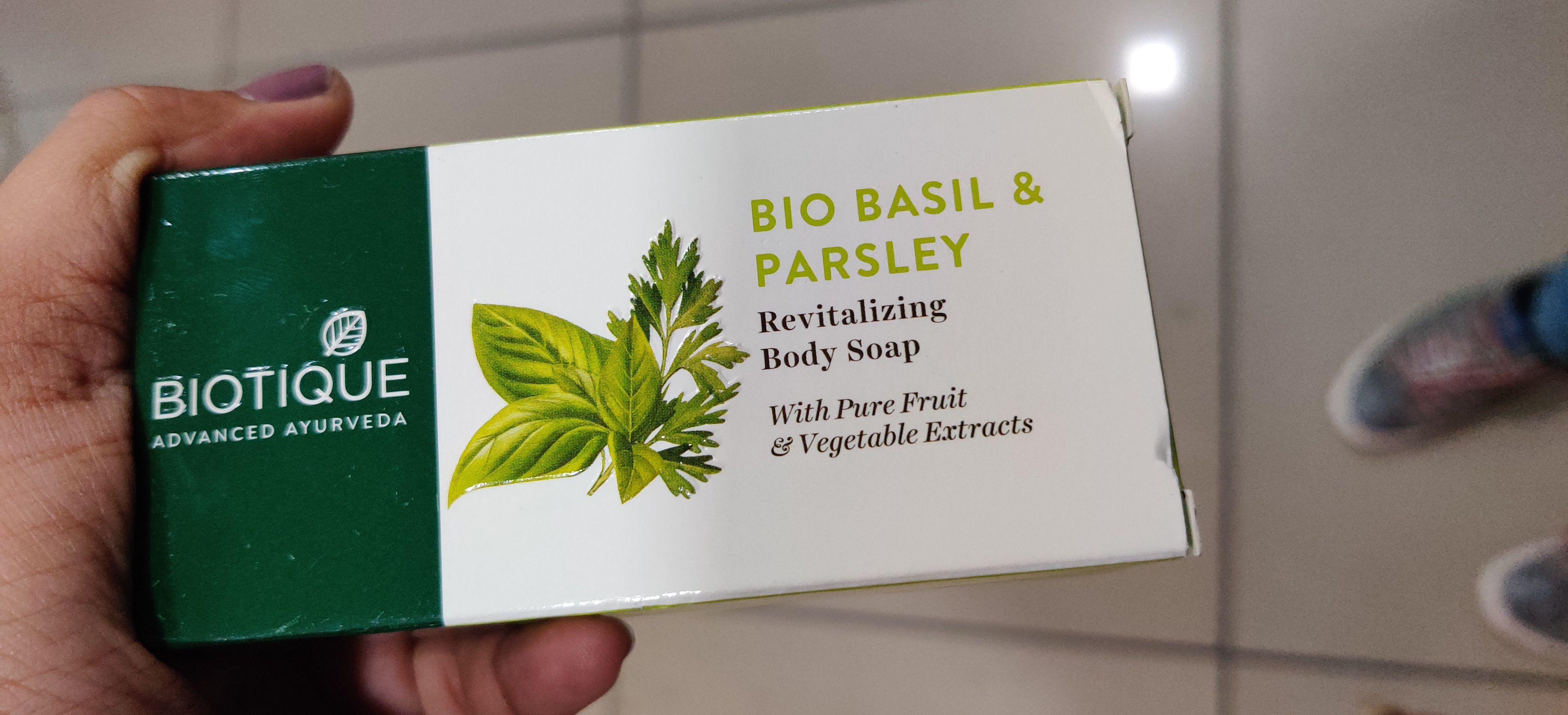 Biotique Bio Basil And Parsley Revitalizing Body Soap-Nourishing Soap!!-By qwerty12345