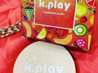 MyGlamm K.PLAY FLAVOURED BLUSH – JUICY STRAWBERRY -Pink chic Look by MyGlamm Strawberry blush-By ekta