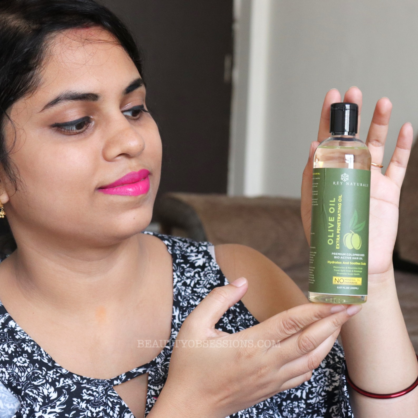 Rey Naturals Pure Cold Pressed Therapeutic Grade Olive Oil For Hair And Skin-Great for hair and nails-By snigdha4