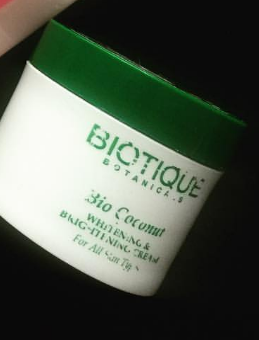 Biotique Bio Coconut Whitening & Brightening Cream-Filled with goodness of coconut-By ariba