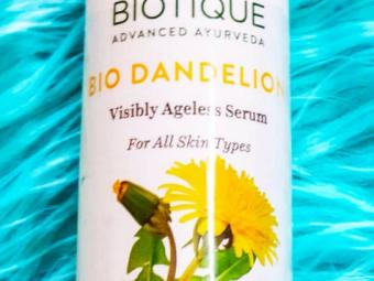 Biotique Bio Dandelion Ageless Lightening Serum -Dandelion ageless serum-By ariba