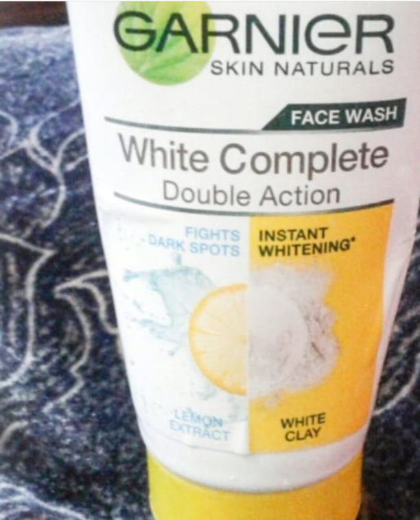 Garnier Skin Naturals White Complete Double Action Face Wash-I love garnier-By ariba