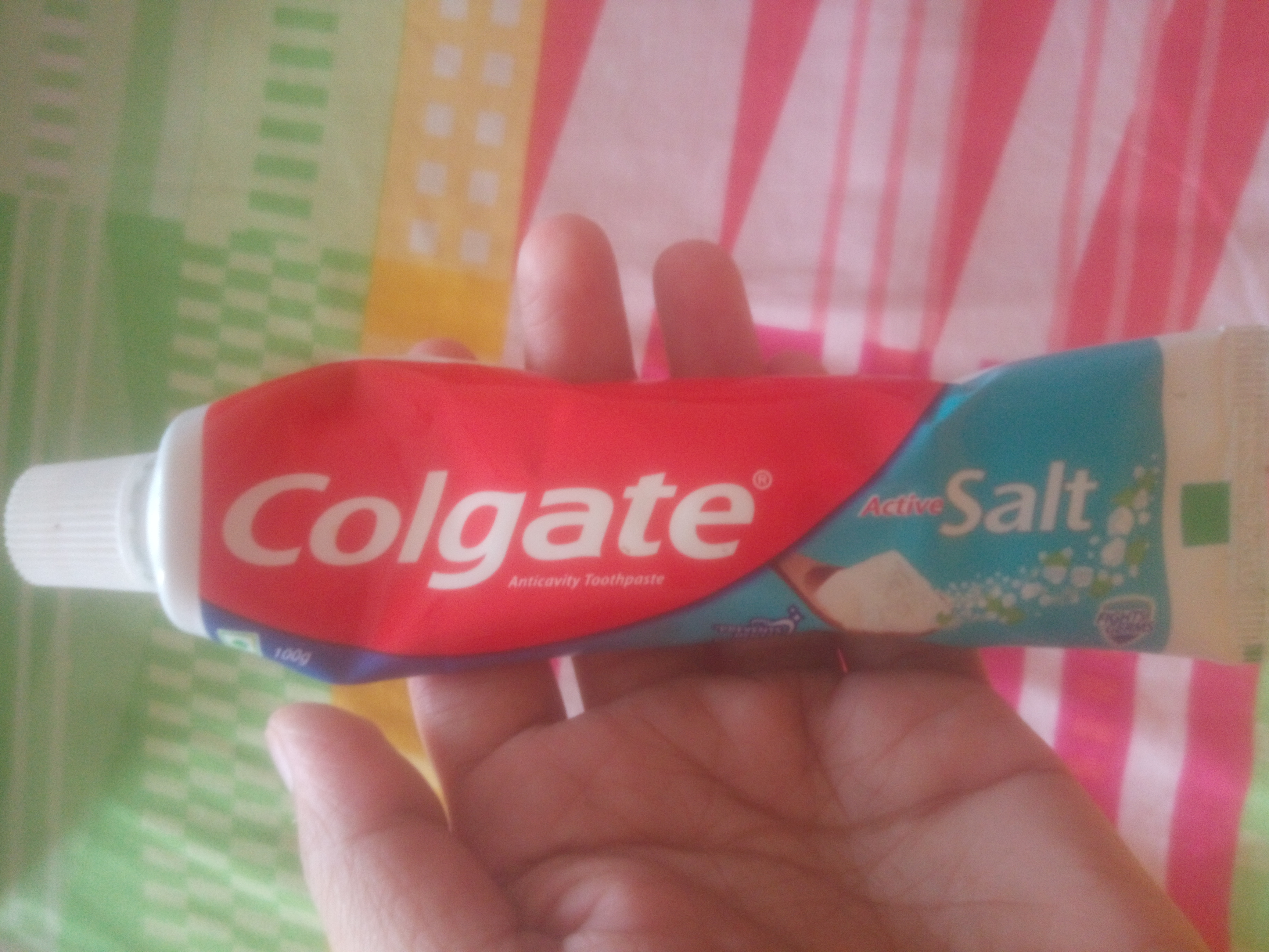 Colgate Active Salt Fight Germs Toothpaste-Salty taste-By pixie