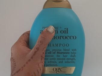 OGX Moroccan Argan Oil Shampoo pic 2-Cruelty free, No chemicals, Great fragrance, Value for money, Lathers pretty well, Leaves a shine in your hair-By exploexplo20