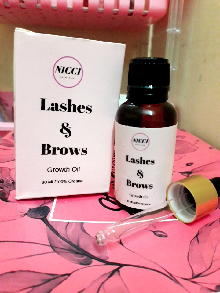 Nicci Lashes & Brows Growth Oil -No more false lashes or extensions-By jitsuen