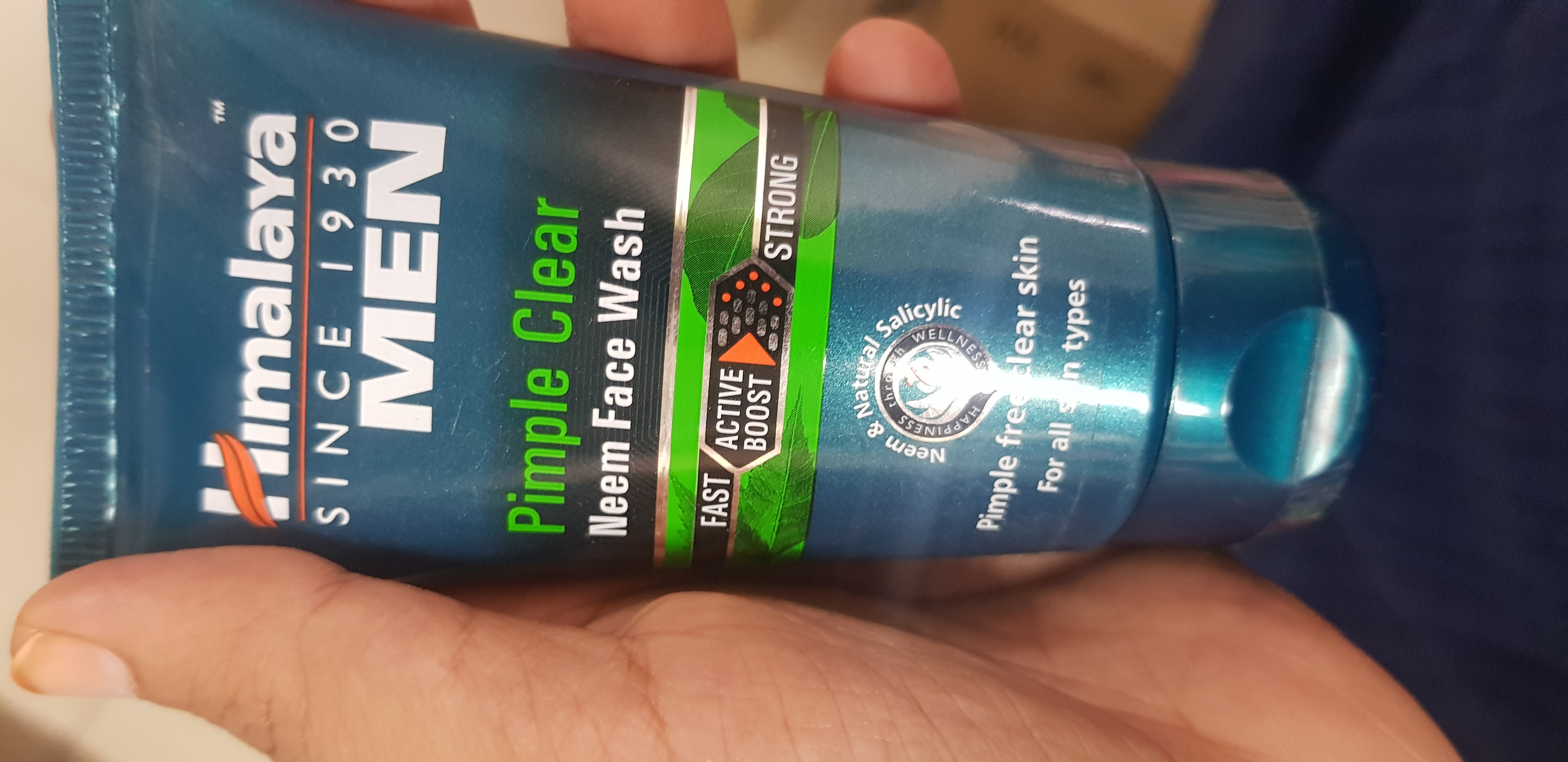 Himalaya Men Pimple Clear Neem Face Wash-Good for dry skin-By avyuktha