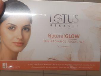 Lotus Herbals Natural Glow Skin Radiance Facial Kit -Lotus facial kit-By avyuktha