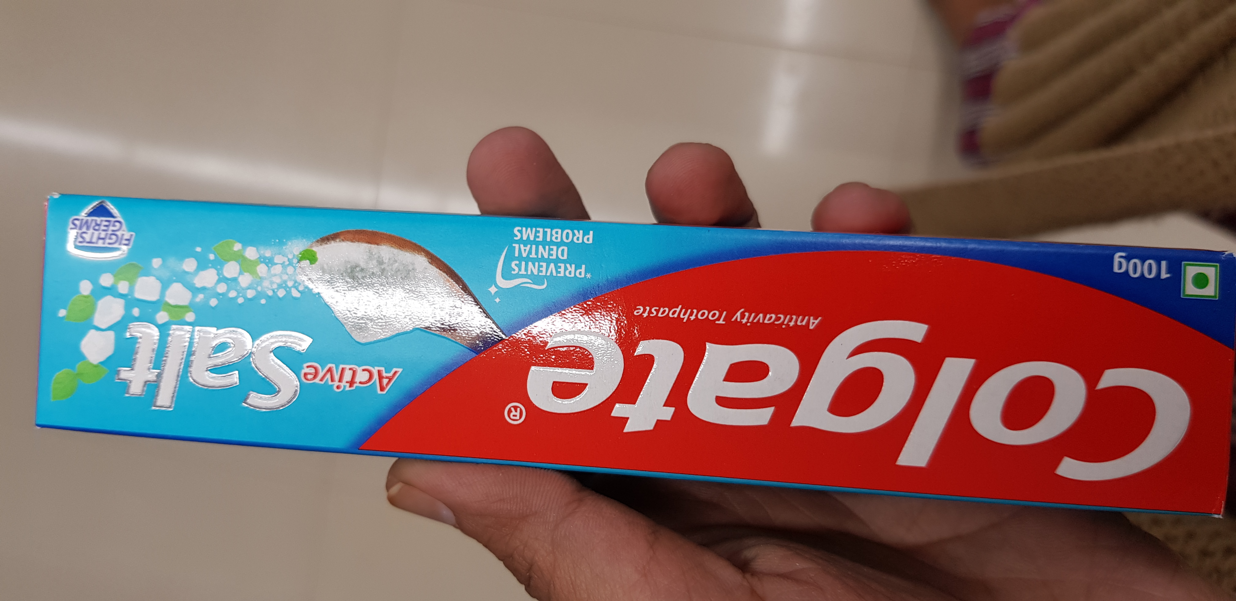 Colgate Active Salt Fight Germs Toothpaste-Colgate salt-By avyuktha