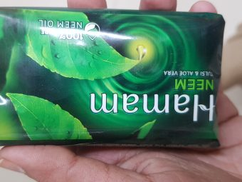 Hamam Neem Tulsi And Aloe Vera Soap Bar -Neem reduces acne-By avyuktha