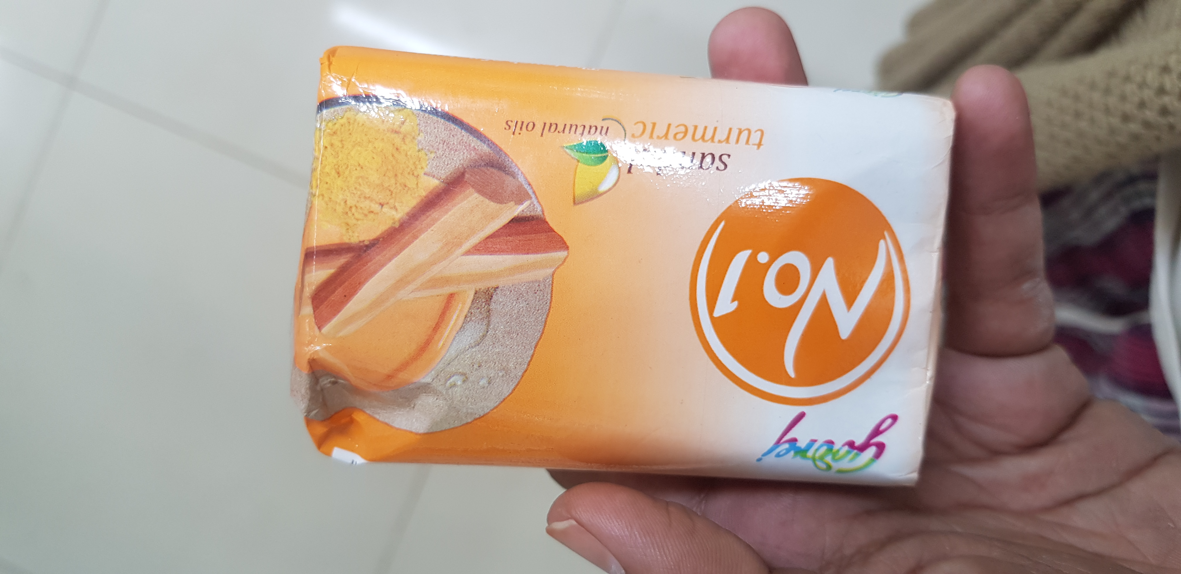 Godrej No 1 Sandal And Turmeric Soap-Turmeric soap-By avyuktha
