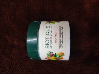 Biotique Bio Fruit Whitening & Depigmentation Face Pack -Amazing results-By marlyn.mansion