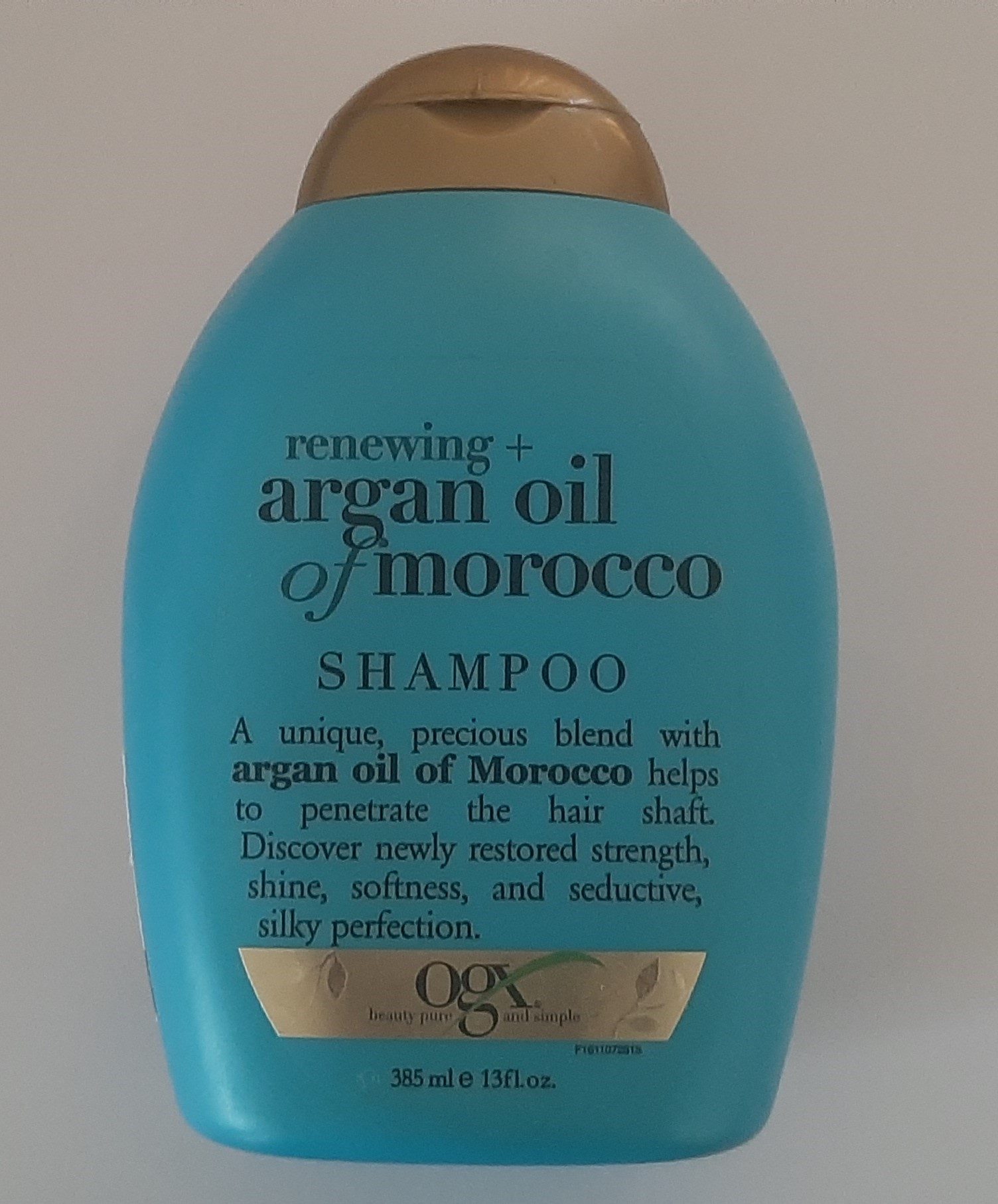 OGX Moroccan Argan Oil Shampoo pic 1-Cruelty free, No chemicals, Great fragrance, Value for money, Lathers pretty well, Leaves a shine in your hair-By exploexplo20