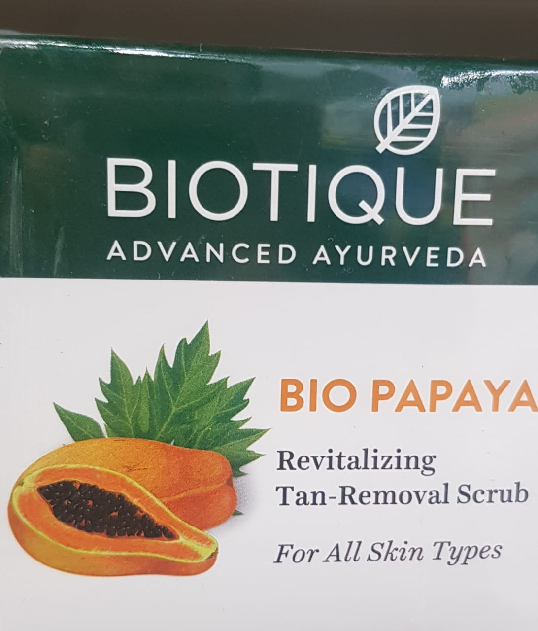 Biotique Bio Papaya Revitalizing Tan Removal Scrub-A good one-By avyuktha