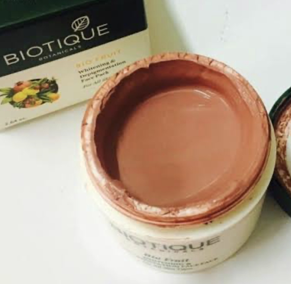 Biotique Bio Fruit Whitening & Depigmentation Face Pack-Works as tan and pigmentation removal-By pixie
