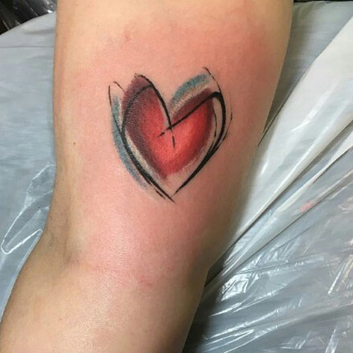 Abstract Love Tattoo