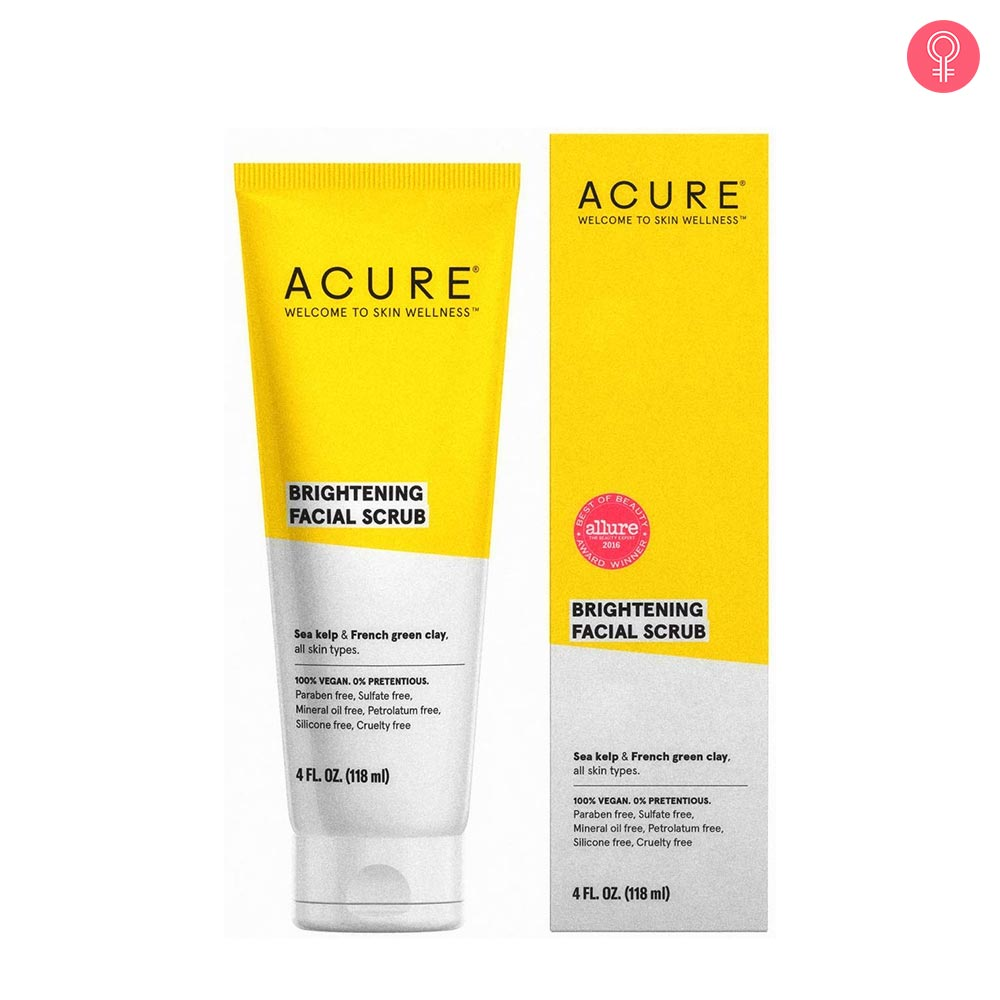 Acure Brightening Facial Scrub Reviews, Price, Benefits