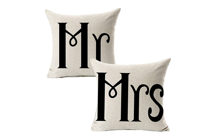 All Smiles Mr. and Mrs. Pillow Cases