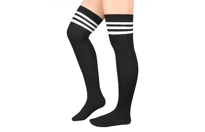 American Trends Women Plus Size Over Knee Thigh High Socks
