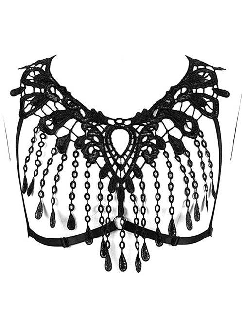BBHOSS Women Strappy Gothic Bralette Harness