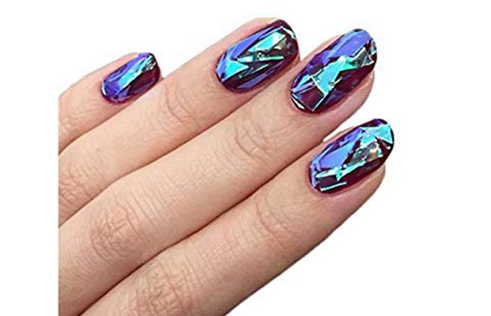 BTArtbox Mixed Color Reflective Mirror Nail Design
