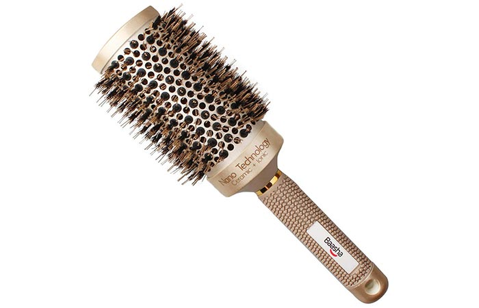 Baasha Extra Large Round Brush With Boar Bristles