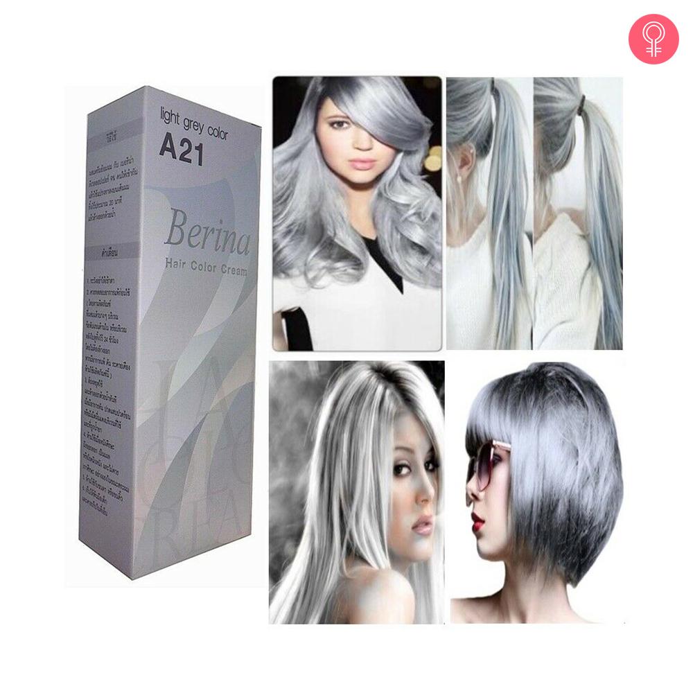 Berina Hair Color Cream A21 Light Grey