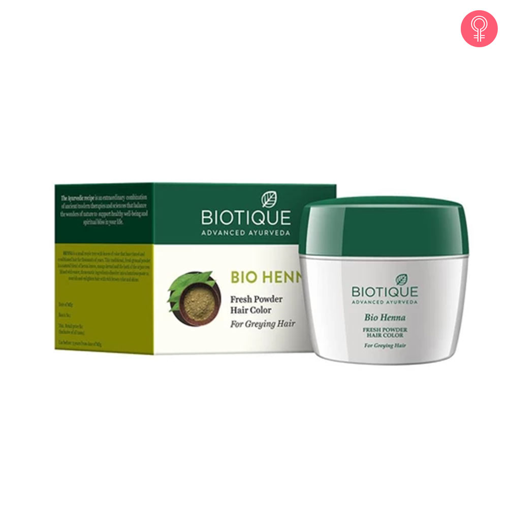 Biotique Bio Henna Fresh Powder Hair Colour For Greying Hair