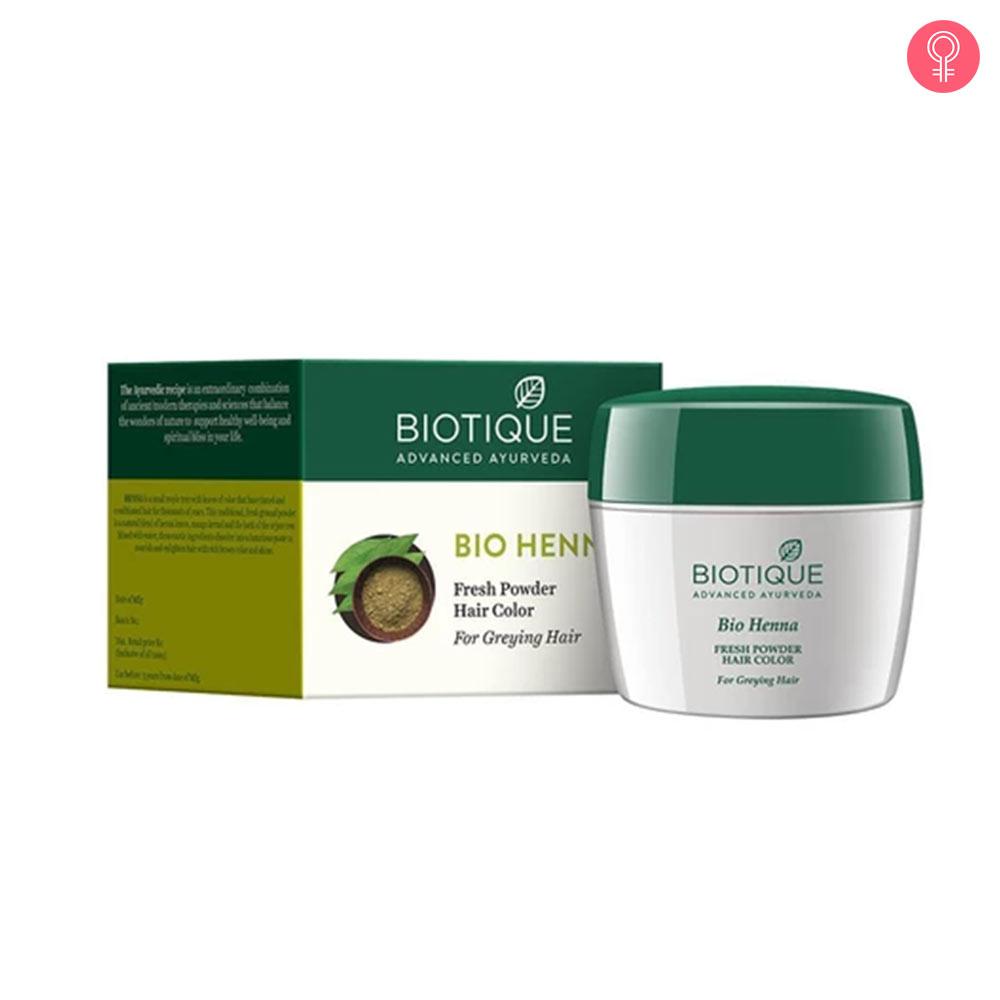 Biotique Bio Henna Fresh Powder Hair Colour For Greying Hair