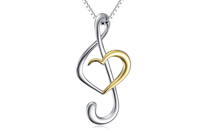 Daochong Musical Note Necklace Pendant