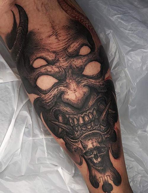 Demon Arm Tattoo