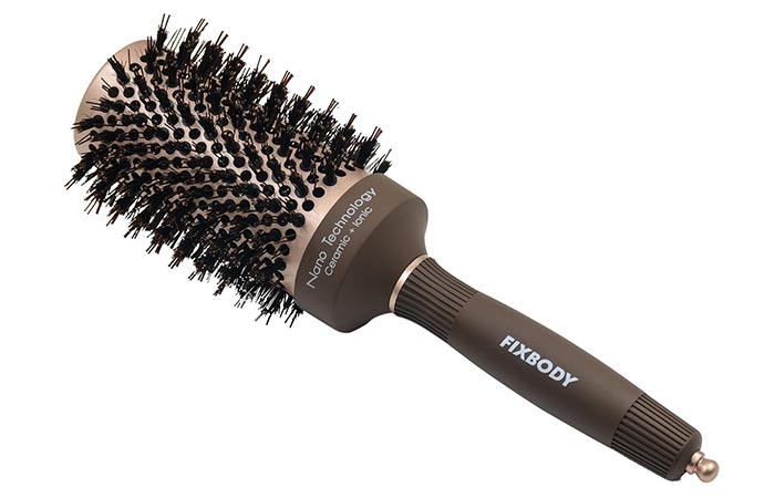 FIXBODY Boar Bristles Round Hair Brush