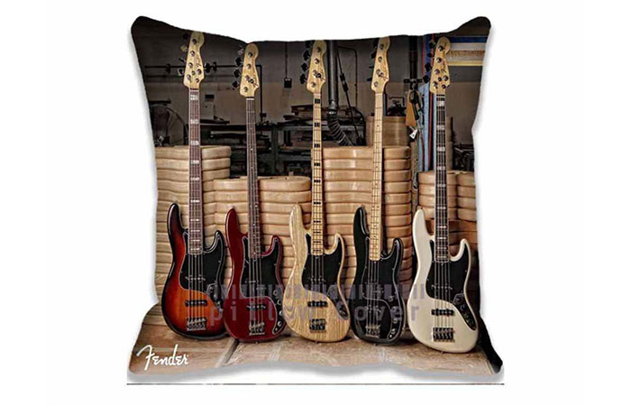 Fender Guitar Throw Pillow Covers