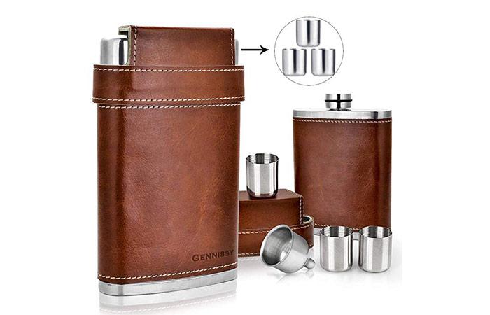 GENNISSY 304 188 Stainless Steel Flask