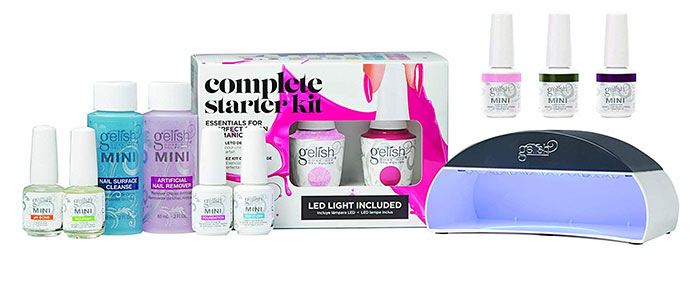 Gelish Mini Soak Off Gel Nail Polish Complete Starter Kit