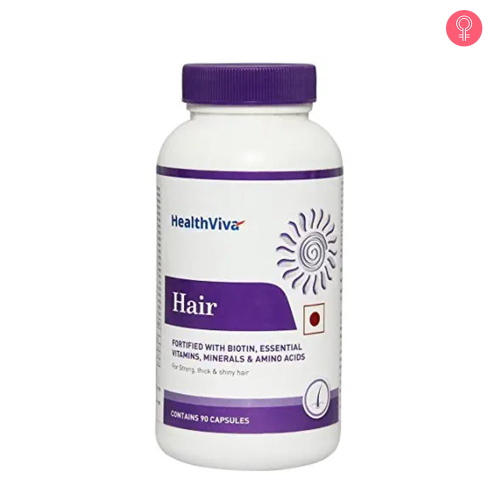 HealthViva Hair with Biotin Capsules