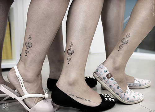 Heart Ankle Tattoo