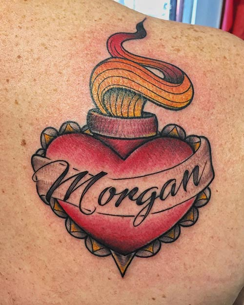 Heart Name Tattoo