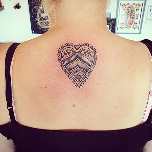 Heart Neck Tattoo