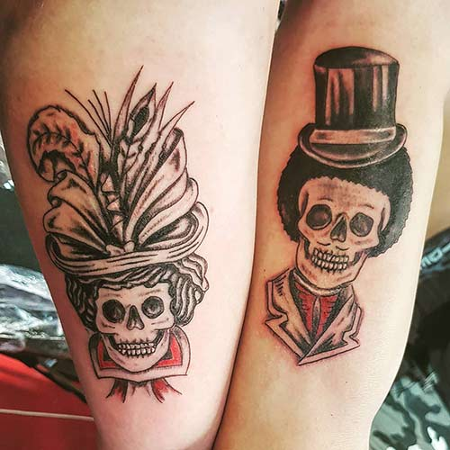 Husband And Wife King And Queen Tattoos