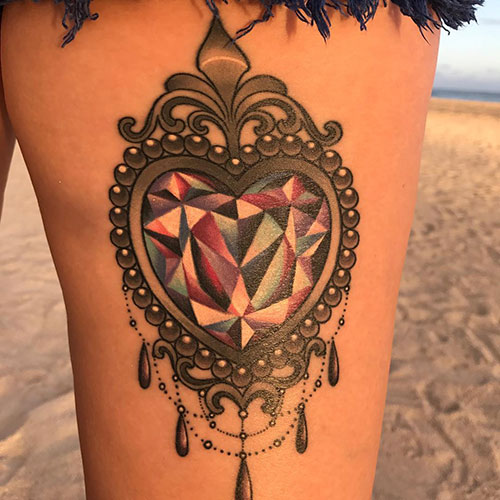 Jewel Heart Tattoo